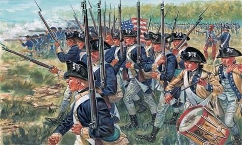 Солдаты  AMERICAN INFANTRY (AM.INDEP.WARS 1776 ) (1:72) - фото 21993