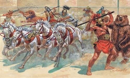 Солдаты  GLADIATORS (I-II CENTURY B.C.) (1:72) - фото 21998