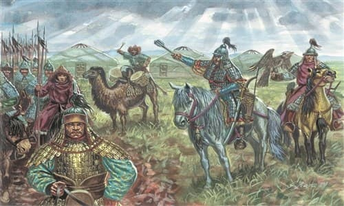 Фигуры  MONGOL CAVALRY (XIIIth CENTURY) (1:72) - фото 22031