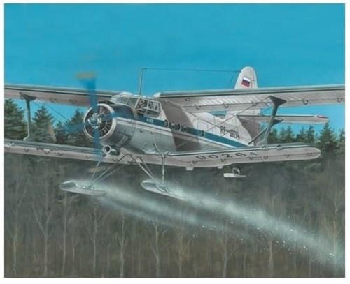 Многоцелевой самолет Ан-2 на лыжах (1:72) - фото 22074