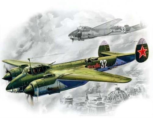 Советский фронтовой бомбардировщик  конструкции Туполева (1:72) - фото 22097