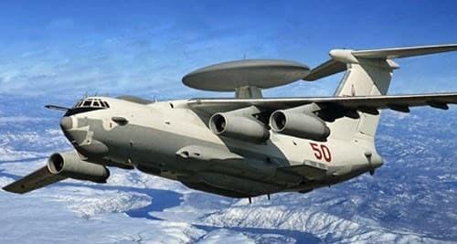 Самолет  дальнего  радиолокационного обнаружения и управления А-50 (1:144) - фото 22104