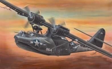 """Самолет-амфибия PBY-5A """"Каталина"""" (1:72) - фото 22113"""