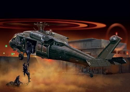 "Вертолет  UH-60/MH-60  BLACK HAWK ""NIGHT RAID"" (1:48) - фото 22502"