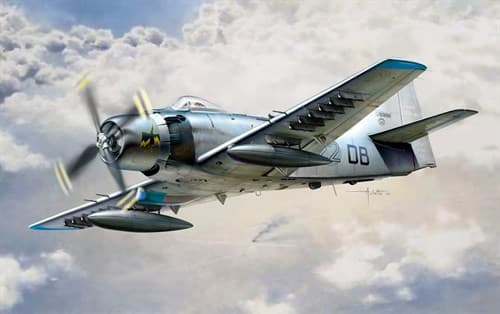 Самолет  AD-4 SKYRAIDER (1:48) - фото 22706