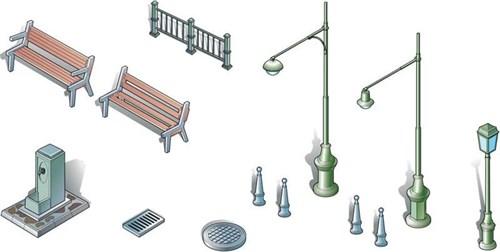 Диорама  Urban accessoires (1:72) - фото 23068