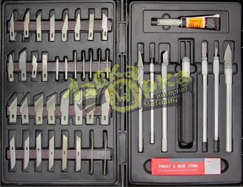 Набор ножей с цанговым зажимом, 51 предмет - фото 23735