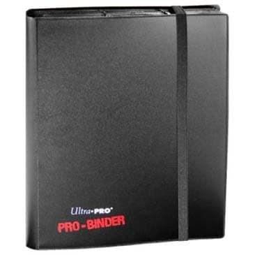 """Альбом """"Ultra-Pro"""" """"PRO-BINDER"""" (со встроенными листами по 3х3 кармашка, для карт в протекторах): черный - фото 23764"""