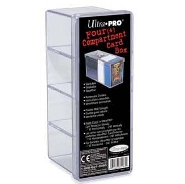 """Коробочка """"Ultra-Pro"""" (прозрачная): на 240 карт в протекторах с 4-мя отделениями - фото 23800"""