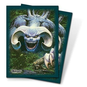 """Протекторы """"Ultra-Pro"""" (с илл. Паркинсона, 66мм*91мм, 50 шт.): рисунок """"Синий Демон"""" - фото 23813"""