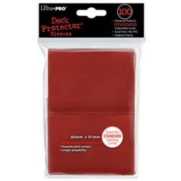 """Протекторы """"Ultra-Pro"""" (разноцветные, 100 шт., 66мм*91мм): красные - фото 23830"""