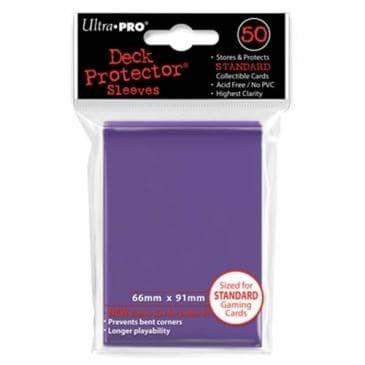 """Протекторы """"Ultra-Pro"""" (разноцветные, 50 шт., 66мм*91мм): Фиолетовые - фото 23834"""