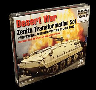 Набор Model Air- Desert War (краски, грунт, пигменты, вспомог.) a71153 71153