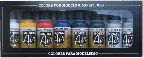 Набор Model Air   Базовые цвета (8цв.) a71174 71174