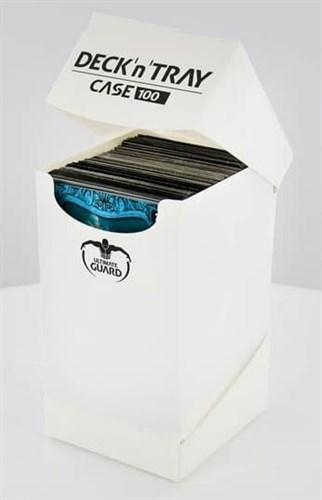 Ultimate Guard - Коробочка 100+ с отделением для кубиков белая UGD010268 010268