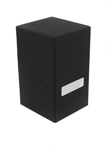 """Ultimate Guard - Коробочка """"Монолит"""" с отделением для кубиков черная UGD010233 010233"""