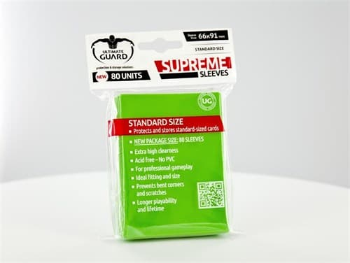 Ultimate Guard - Протекторы светло-зеленые 80 штук UGD010133 010133