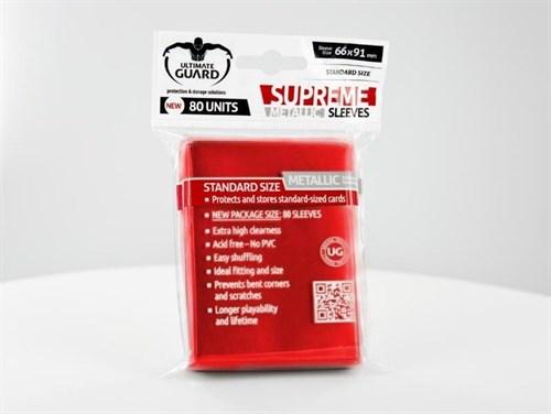 Ultimate Guard - Протекторы красный металлик 80 штук UGD010131 010131