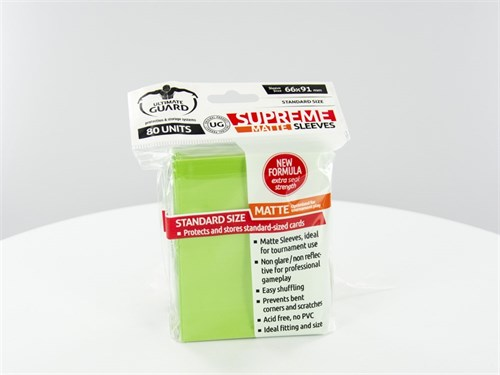 Ultimate Guard - Протекторы матовые светло-зеленые 80 штук UGD010183 010183