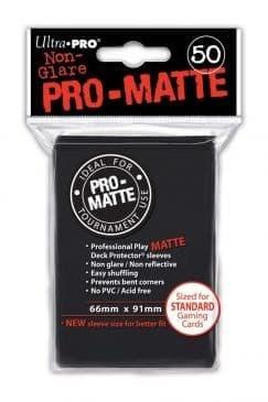 """Протекторы """"Ultra-Pro"""" PRO-MATTE (66мм*91мм, 50 шт.): черные 82728"""