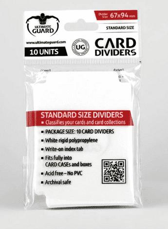 Ultimate Guard - Разделители белые 10 штук UGD010080 010080