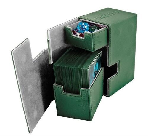 Ultimate Guard - Коробочка кожаная зеленая премиум с отделением для кубиков UGD010225 010225