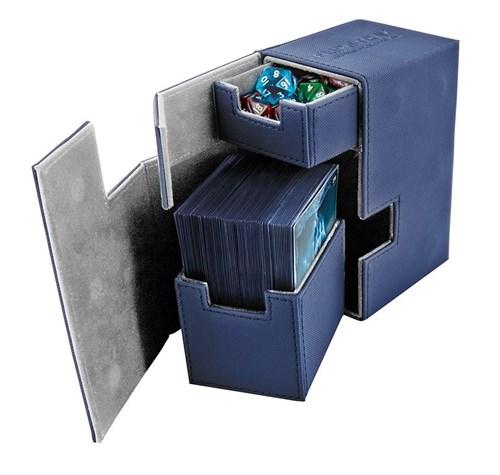 Ultimate Guard - Коробочка кожаная синяя премиум с отделением для кубиков UGD010224 010224
