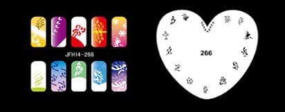 Трафарет для росписи ногтей аэрографом JFH14-266 - фото 27664