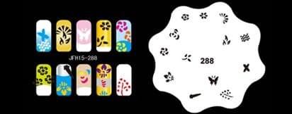 Трафарет для росписи ногтей аэрографом JFH15-288 - фото 27673