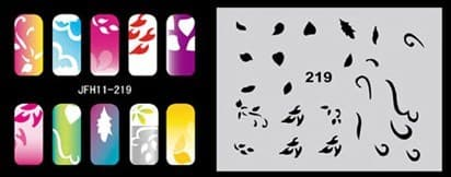 Трафарет для росписи ногтей аэрографом JFH11-219 - фото 27683