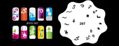 Трафарет для росписи ногтей аэрографом JFH15-297 - фото 27687