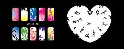 Трафарет для росписи ногтей аэрографом JFH14-261 - фото 27703
