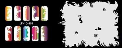 Трафарет для росписи ногтей - фото 27709