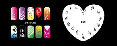 Трафарет для росписи ногтей аэрографом JFH14-269 - фото 27712