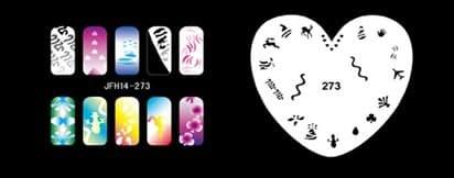 Трафарет для росписи ногтей аэрографом JFH14-273 - фото 27726