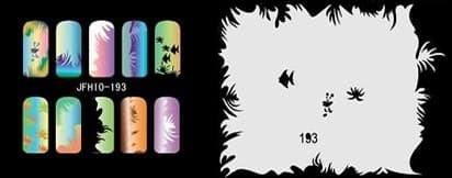 Трафарет для росписи ногтей - фото 27730