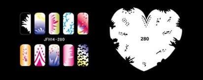 Трафарет для росписи ногтей аэрографом JFH14-280 - фото 27731
