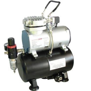 Компрессор для аэрографа JAS 1208, с регулятором давления, автоматика, два режима работы, ресивер - фото 27779