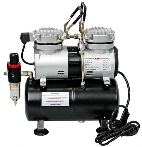 Компрессор 1206, с регулятором давления, автоматика, два режима работы, ресивер, два цилиндра - фото 27782