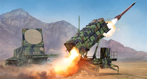 "ЗРК ""Патриот"" пусковая установка и радар (1:35) - фото 28484"
