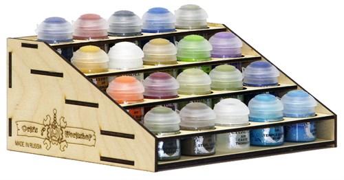 Подставка для красок 20 баночек (Citadel, Mr.Hobby, Tamiya) - фото 28673