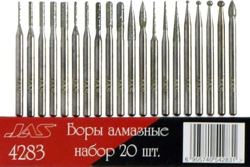 Боры алмазные, набор 20 шт., Lux - фото 28923