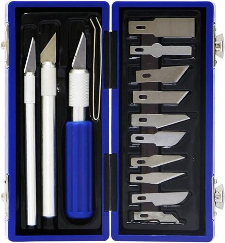 Набор ножей с цанговым зажимом (алюминий), 17 предметов - фото 28928