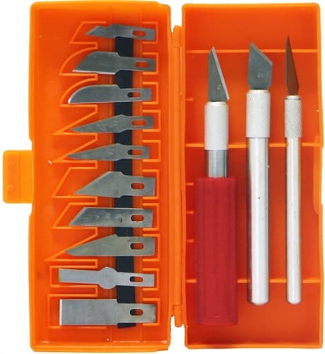 Набор ножей с цанговым зажимом (алюминий), 16 предметов - фото 28931