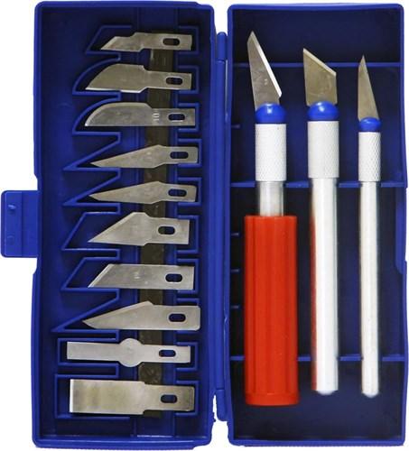 Набор ножей с цанговым зажимом, 13 предметов - фото 28932