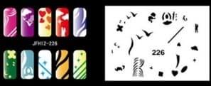 Трафарет для росписи ногтей - фото 28936