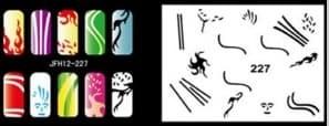 Трафарет для росписи ногтей аэрографом JFH12-227 - фото 28937