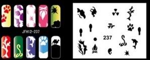 Трафарет для росписи ногтей - фото 28944