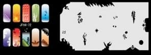 Трафарет для росписи ногтей аэрографом JFH4-72 - фото 28957