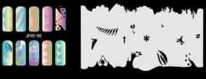 Трафарет для росписи ногтей аэрографом JFH5-96 - фото 28977